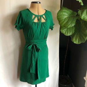 Gianni Bini   Green dress with cutout neckline